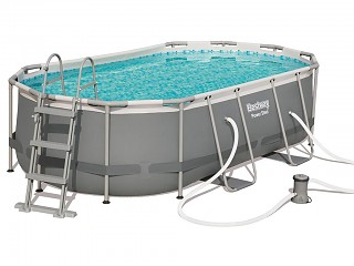 Bestway - Kit piscine tubulaire Bestway POWER STEEL FRAME POOL ovale 427x250x100cm