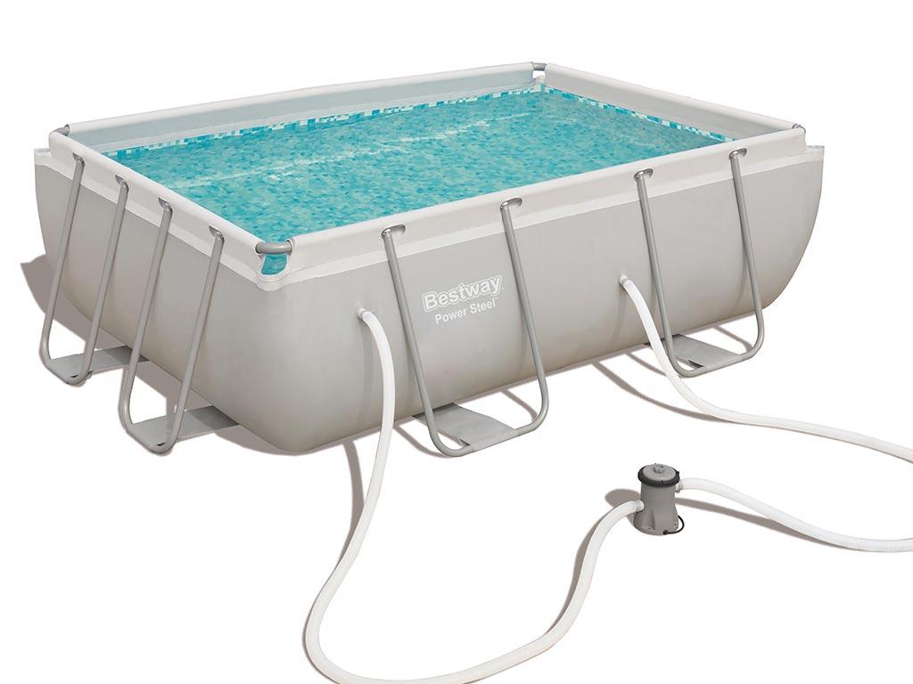 Kit piscine tubulaire bestway steel pro frame pool for Piscine hors sol bestway rectangulaire