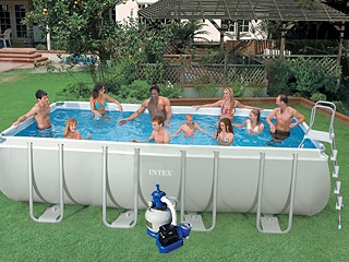 Kit piscine tubulaire intex ultra silver rectangulaire 549 for Piscine tubulaire rectangulaire 549 x 274 x 122 cm