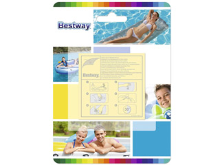 Bestway - Lot de 10 patchs Bestway REPAIR 6,5 x 6,5cm surface totale 42,3cm²