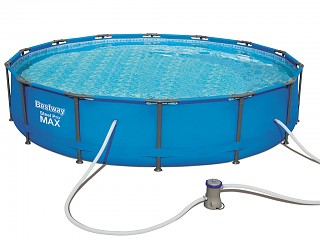Kit piscine tubulaire Bestway STEEL PRO FRAME POOLS ronde Ø427 x 84cm filtration cartouche