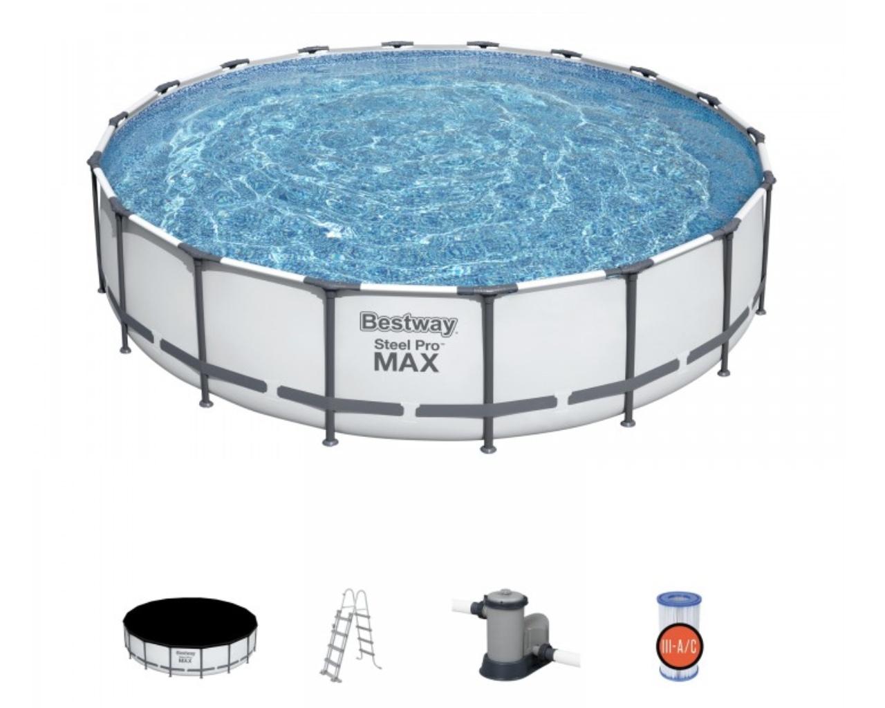 kit piscine complet hors sol tubulaire bestway steel pro. Black Bedroom Furniture Sets. Home Design Ideas