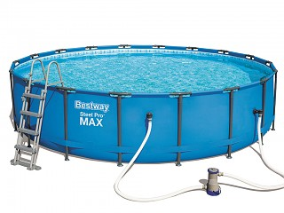 Kit piscine complet hors-sol tubulaire Bestway STEEL PRO MAX POOLS ronde Ø5,49 x 1,22m