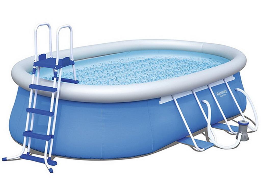 kit piscine autoportante bestway fast set pools ovale. Black Bedroom Furniture Sets. Home Design Ideas