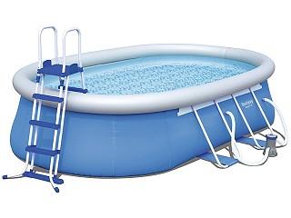 Kit piscine autoportante bestway steel pro ovale 549 x 366 for Piscine 366 x 122