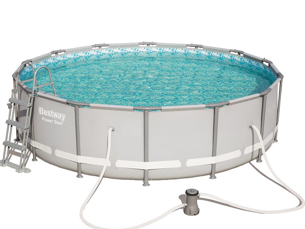 Kit piscine tubulaire bestway power steel frame pools for Kit entretien piscine tubulaire