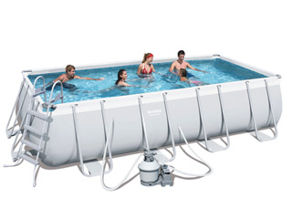 Kit piscine tubulaire bestway power steel frame pools for Piscine tubulaire rectangulaire bestway