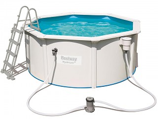 Kit piscine Bestway STEEL WALL POOLS ronde 300 x 120 cm filtration cartouche