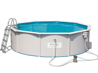 Bestway - Kit piscine Bestway HYDRIUM STEEL WALL POOLS ronde 460x120cm filtration cartouche