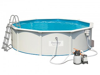 Bestway - Kit piscine Bestway HYDRIUM STEEL WALL POOLS ronde 460x120cm filtration a sable