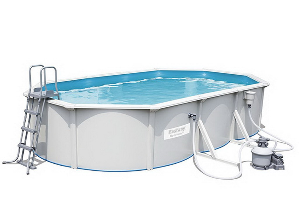 Kit piscine bestway hydrium oval pools 610 x 360 x 120 cm for Piscine hors sol 360 x 120