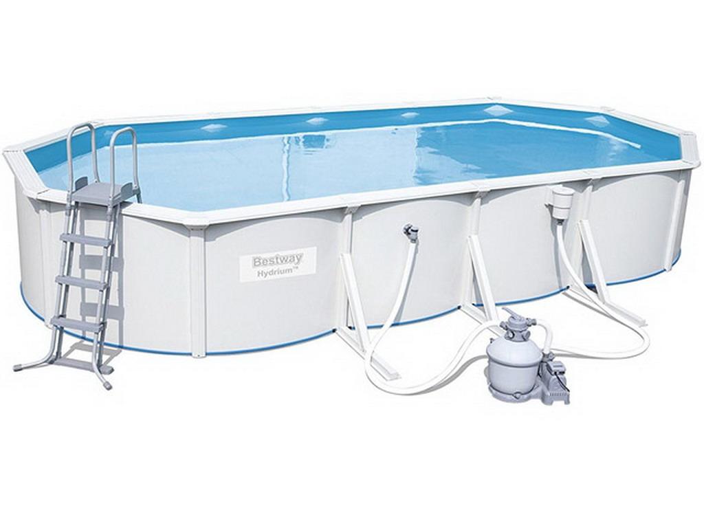 kit piscine bestway hydrium oval pools 740 x 360 x 120 cm filtration sable sur. Black Bedroom Furniture Sets. Home Design Ideas