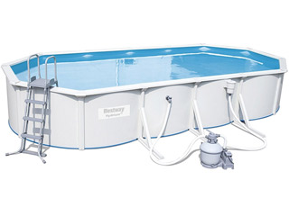 Kit piscine Bestway STEEL WALL POOL ovale 740 x 360 x 120 cm filtration a sable