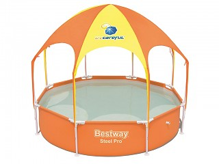 Bestway - Piscine hors-sol enfant autoportante Bestway SPLASH IN SHADE PLAY POOL ronde 244 x 51 cm