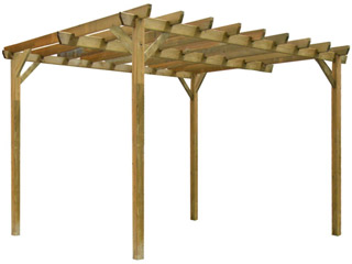 Pergola bois MALLORCA independante en Pin marron