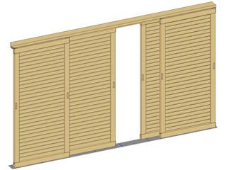 kit 3 portes pour pergola en bois durapin man a sur march. Black Bedroom Furniture Sets. Home Design Ideas