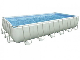Kit piscine tubulaire EASY LUXE rectangulaire 4,40 x 3m filtration a sable