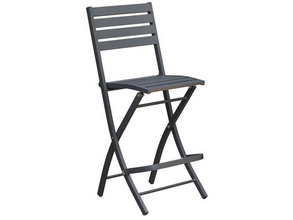 Chaise De Bar Pliante MARIUS En Aluminium 5 Couleurs Au Choix Sur