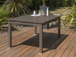 table de jardin zahara aluminium avec rallonge 180 240x100x73cm sable sur march. Black Bedroom Furniture Sets. Home Design Ideas