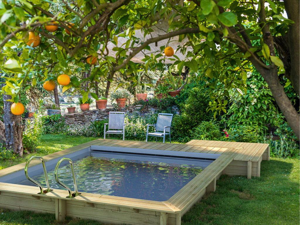 piscine bois hors sol proswell urbaine couverture int gr e sur march. Black Bedroom Furniture Sets. Home Design Ideas