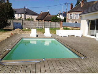 Kit piscine enterree AZTECK rectangulaire 3.65 x 6.90m