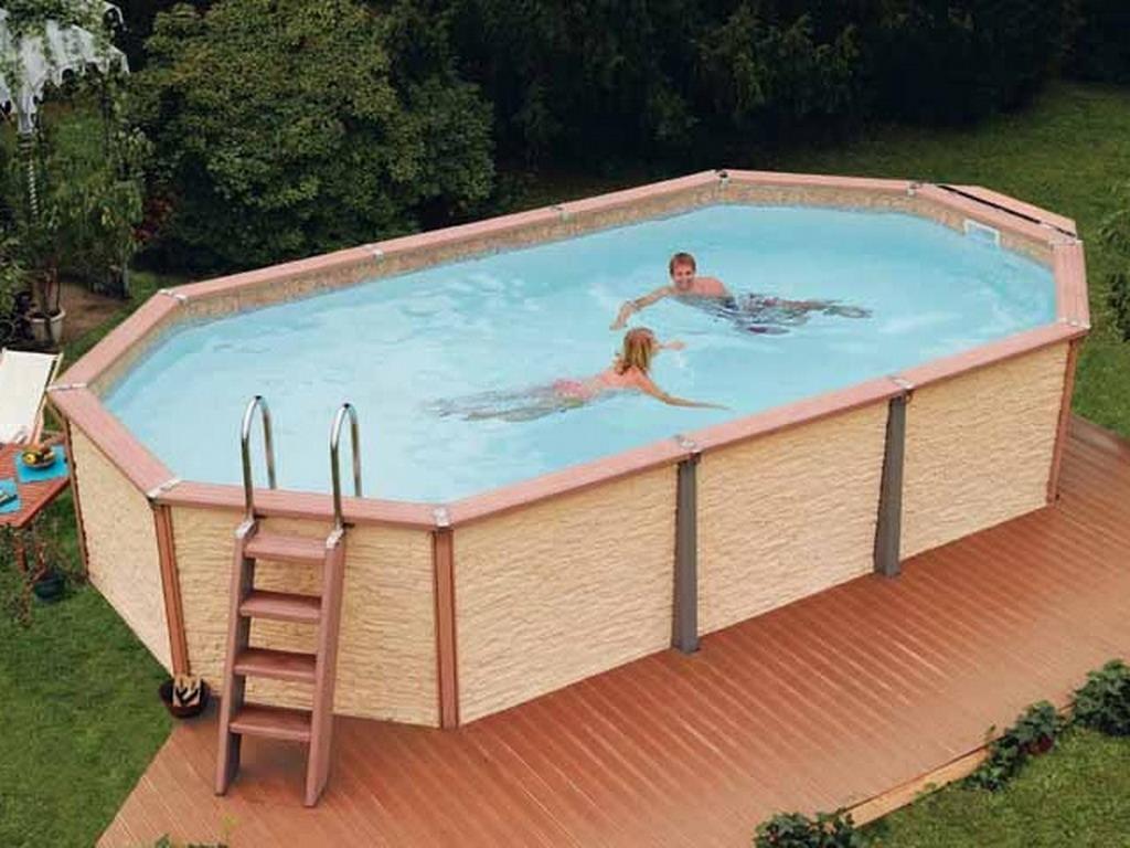 Kit piscine hors-sol AZTECK ovale 9.9 x 9.9m