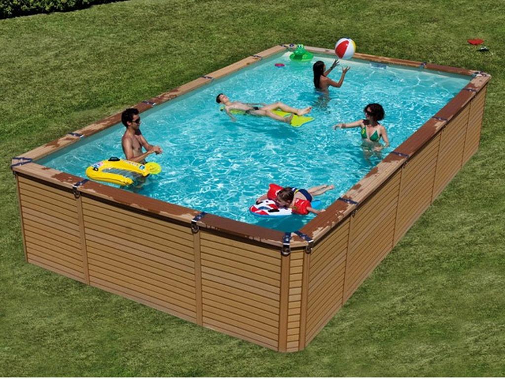 Kit piscine hors sol azteck rectangulaire x sur march - Piscine chauffee hors sol ...