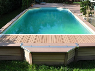 Kit piscine semi-enterree AZTECK Mixte 4.00 x 5.60m