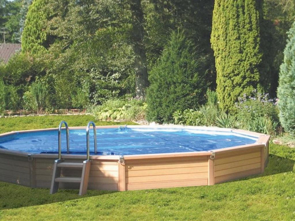 Kit piscine semi enterr e azteck ronde diam tre sur - Piscine bois composite semi enterree ...