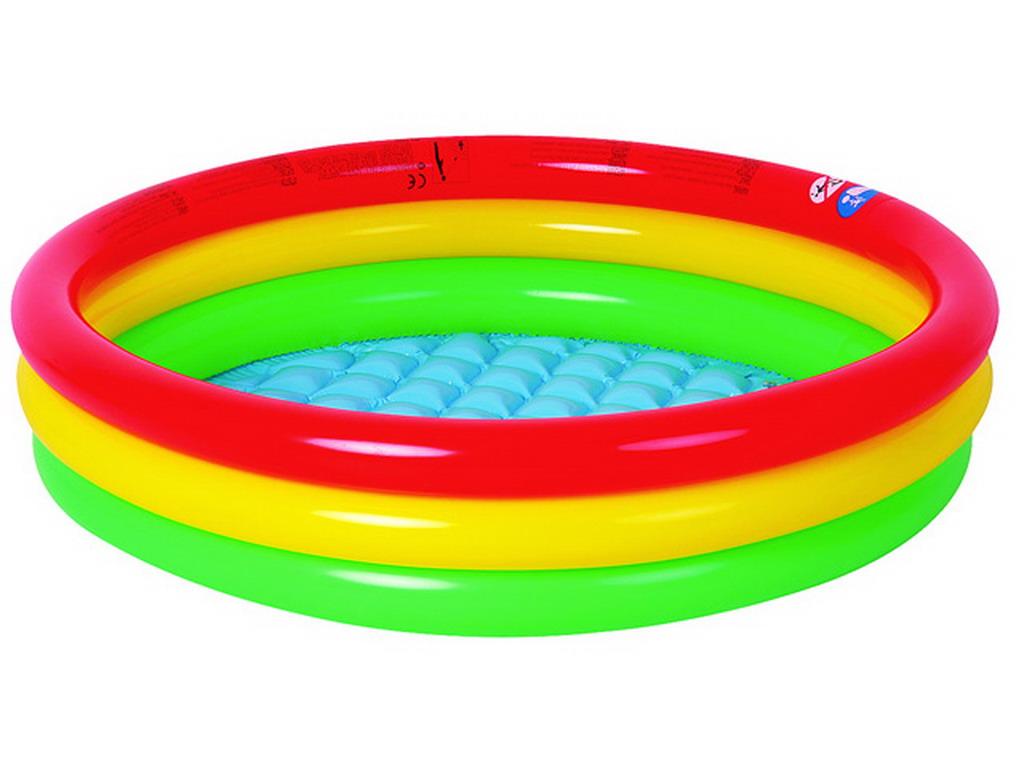 piscine enfant gonflable multicolore 100x22cm sur march. Black Bedroom Furniture Sets. Home Design Ideas