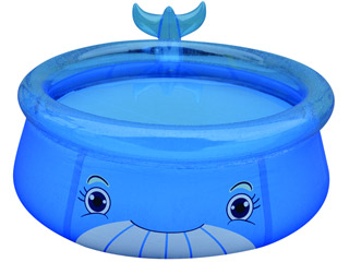 Piscine enfant gonflable baleine bleue 175 x h62cm sur for Piscine baleine