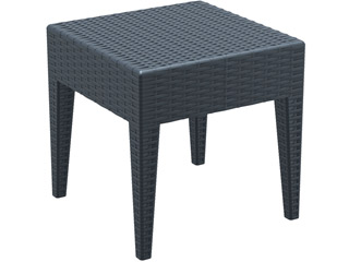 ProSolis - Table Prosolis BRAVA resine tressee Gris anthracite