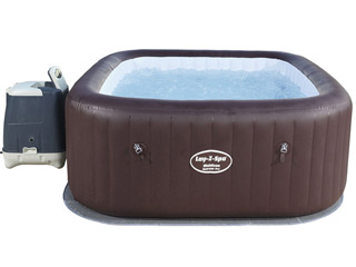 Spa gonflable Bestway Lay-Z Hydrojet Pro MALDIVES carre 201x201x80cm 5 a 7 places