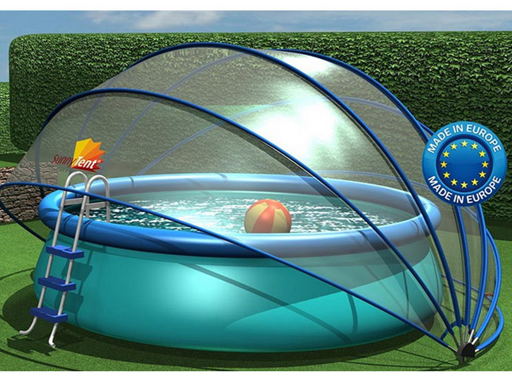 abri rond piscine ou spa sunny tent sur march. Black Bedroom Furniture Sets. Home Design Ideas
