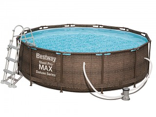 Bestway - Kit piscine Bestway STEEL PRO FRAME POOLS ronde Ø366x100cm aspect tresse filtration a cartouche