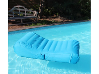 Chaise longue gonflable piscine WAVE Sunvibes Turquoise