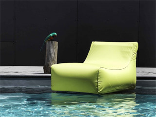 Fauteuil gonflable piscine KIWI Sunvibes Vert Anis