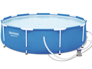 Kit piscine Bestway STEEL PRO FRAME POOL ronde Ø305 x 76cm filtration cartouche