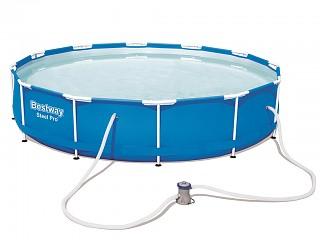 Kit piscine Bestway STEEL PRO FRAME POOL ronde Ø366 x 76cm filtration cartouche