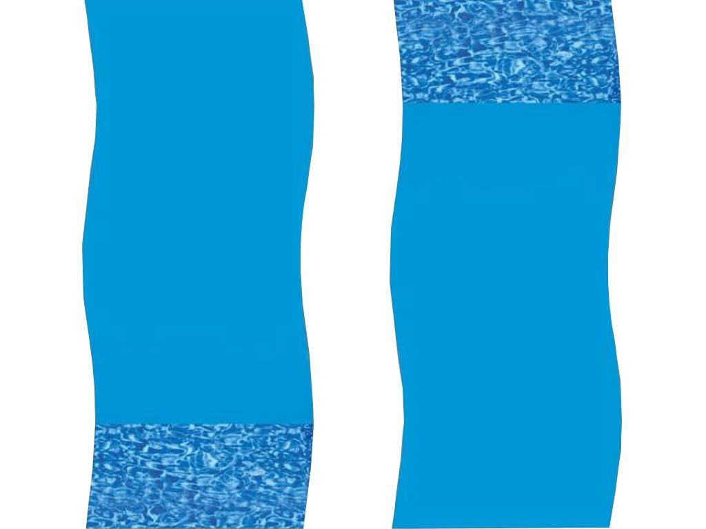 Liner overlap SWIRL piscine hors-sol ovale 9.9x9.19m