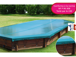 Walter - Couverture d'hivernage opaque piscine hors-sol bois WALU WOOD Walter