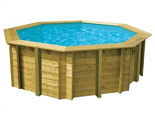 Piscine bois Nortland Ubbink SUNWATER All in One 360x120cm octogonale