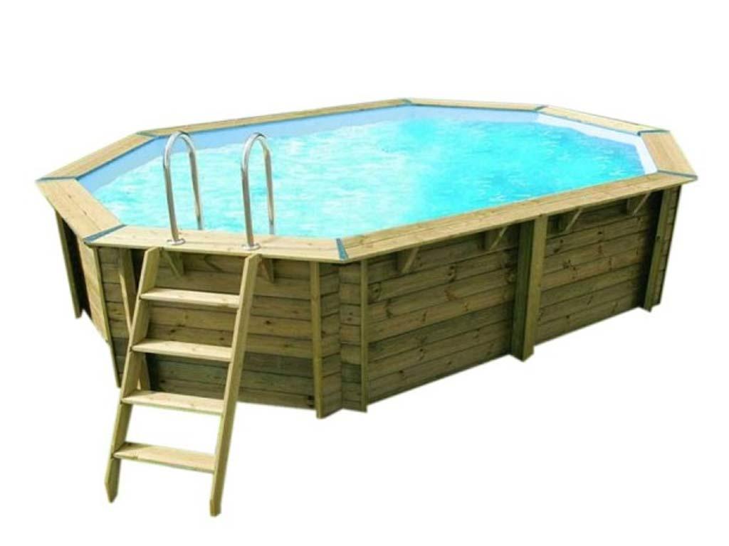 Piscine Bois Nortland Ubbink Sunwater Octogonale 300x490x120cm Liner