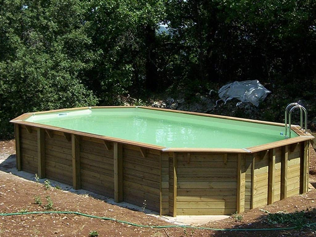 Piscine En Palette De Bois kit piscine bois nortland ubbink azura octogonale 400x750x130cm liner beige