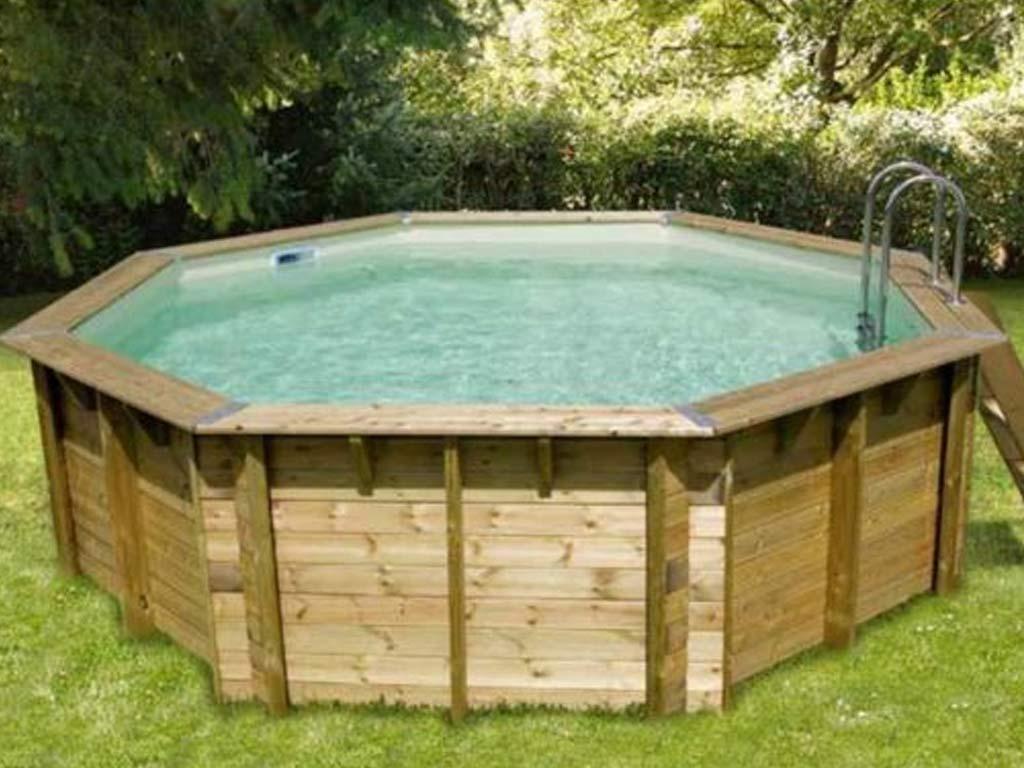 Kit piscine bois nortland ubbink ocea octogonale - Liner piscine hors sol octogonale ...