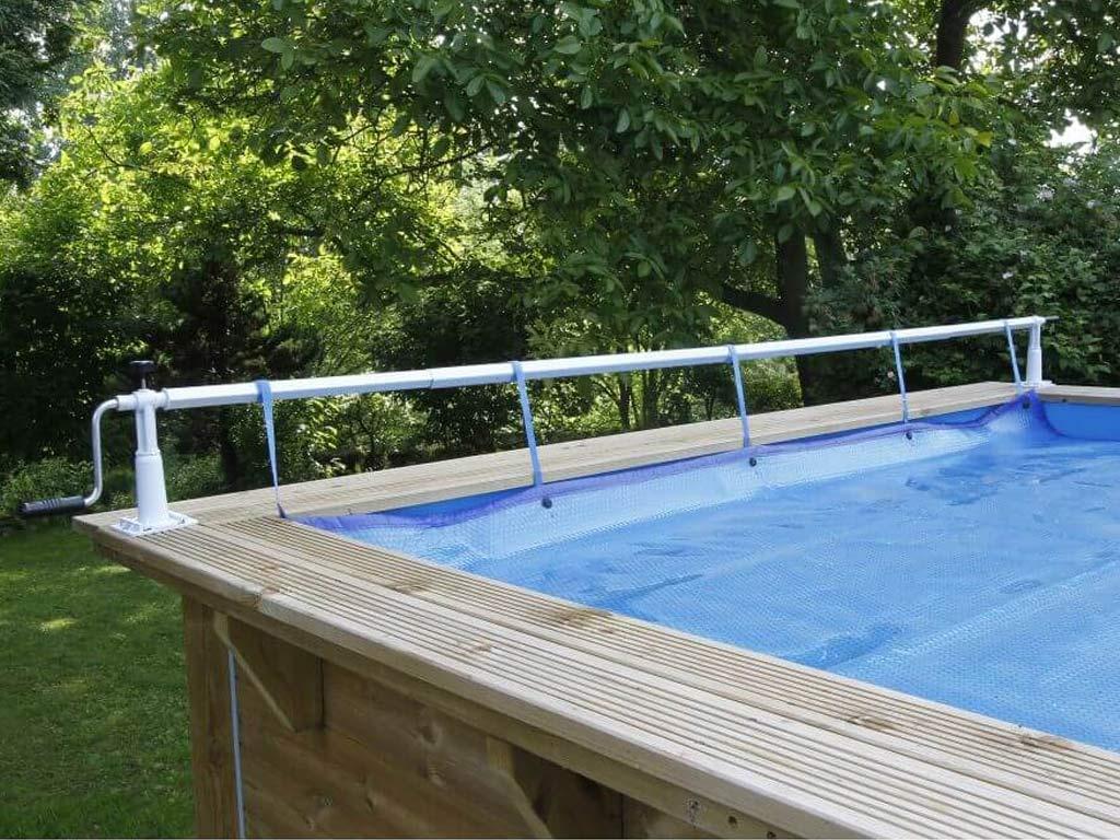 Enrouleur bâche à bulles Ubbink XTRA piscine hors-sol