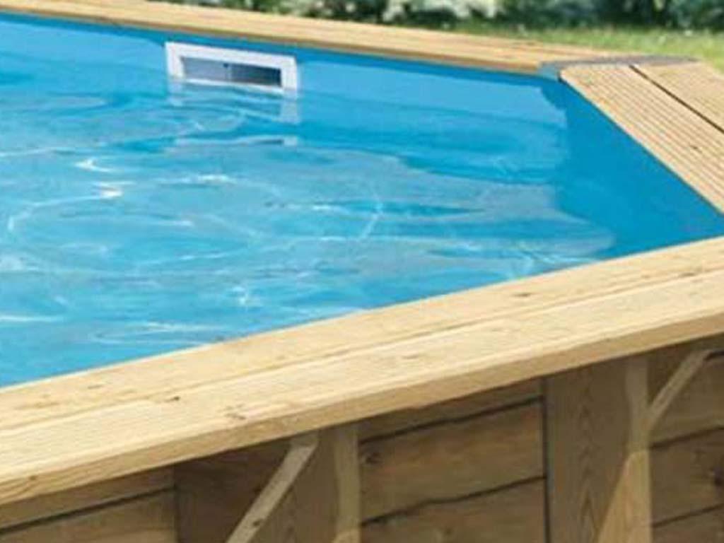 Liner piscine hors-sol Ubbink 9x9xH9cm 9/9ème coloris bleu