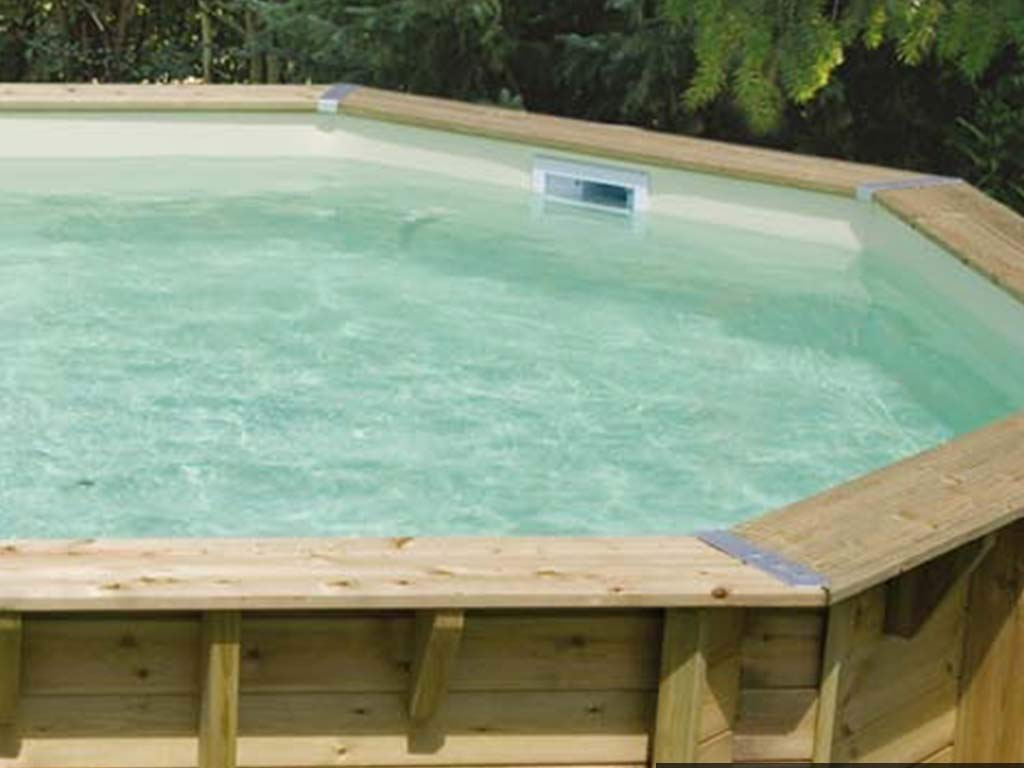 Piscine Hors Sol Avec Toboggan liner piscine hors-sol ubbink 400x550xh120cm 75/100ème coloris beige