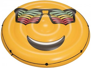 Bestway - Bouee gonflable piscine Bestway LOUNGE Fashion Smiley Ø188cm