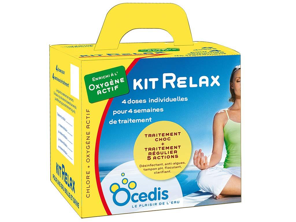 Traitement Mensuel Oxygene Actif Ocedis Kit Relax Pour Piscine